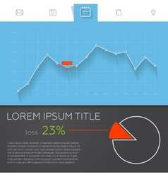 Detailed colorful infographic elements for web and vector image vector image