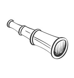doodle spyglass vector image