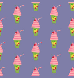 drink coctail seamless pattern vector image