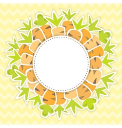 Easter carrots pattern on a yellow vector image vector image
