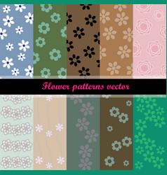 Flower patterns vector