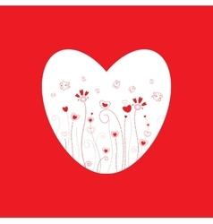 Grass pattern valentine day vector