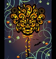 Halloween masque vector