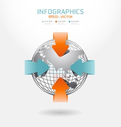 infographic arrow diagram chart vector image vector image