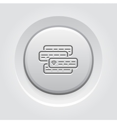 Internet Marketing Icon Grey Button Design vector image