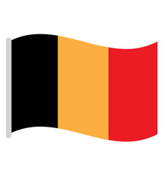isolated belgian flag vector image
