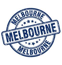Melbourne blue grunge round vintage rubber stamp vector