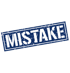 Mistake square grunge stamp vector