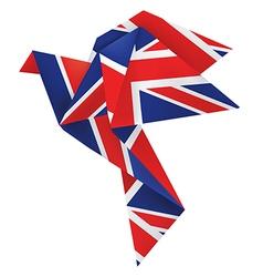 Origami dove brexit vector