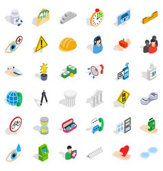Person care icons set isometric style vector