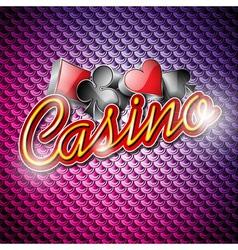 Poker symbols and shiny texts vector