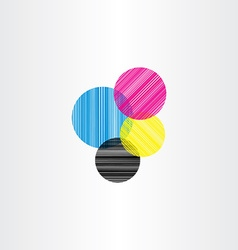 printing color background circle vector image vector image
