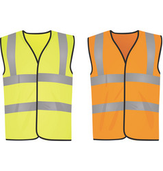 Safety yellow and orange vests vector