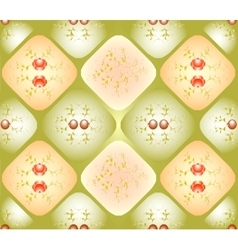 Seamless background with patterns in rhombuses vector image vector image