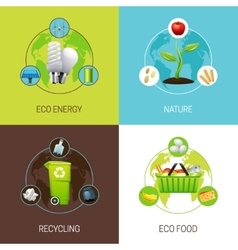 Set Of Ecology Concept vector image vector image