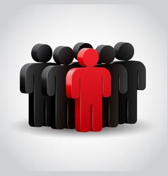 Teamwork concept 3d vector