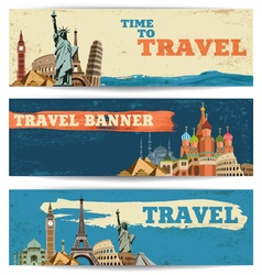 Travel baners vector