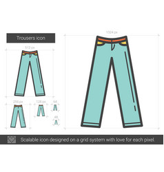 Trousers line icon vector
