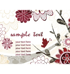 Watercolor greeting card vector
