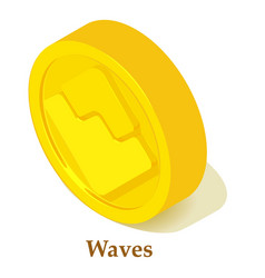waves icon isometric style vector image