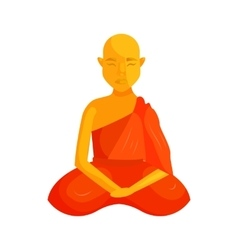 Buddhist monk icon cartoon style vector