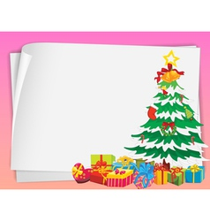 paper sheets and gift boxes vector image