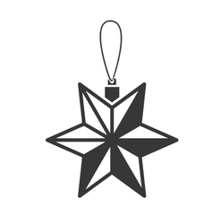 Star christmas decoration vector