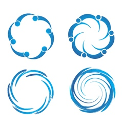 Swirl swooshes vector image