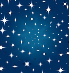 Beautiful night star vector image
