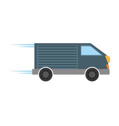 delivery van transport icon vector image