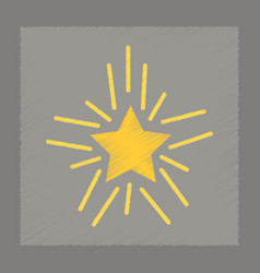 flat shading style icon star shines vector image