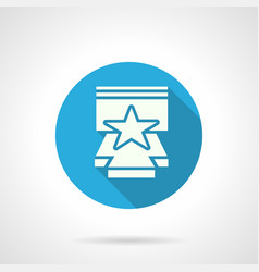 Star performance flat round icon vector