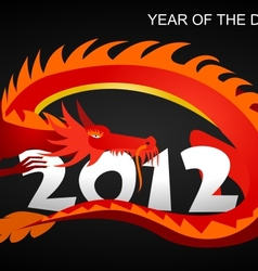 2012 Year of the dragon vector image