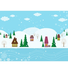 Winter fairyland vector