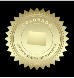 Gold star label Colorado vector image