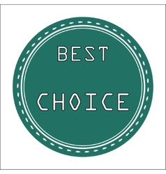 Best choice icon badge label or sticke vector