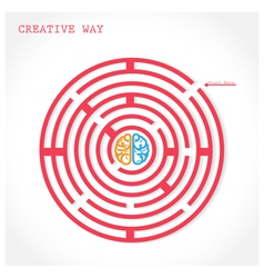 Creative circle maze way concept vector