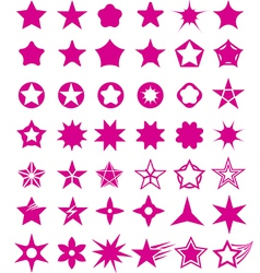 Star shape set vector