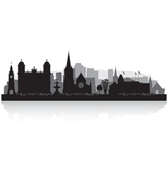 Christchurch New Zealand city skyline silhouette vector image