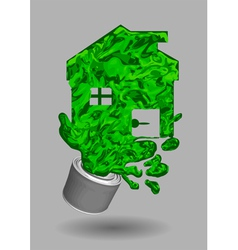 Paint house vector