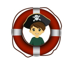 Pirate lifebuoy vector