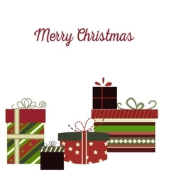 Meery christmas background with gifts vector