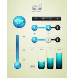 Infographics for water vector
