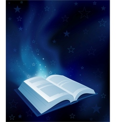 Magic book vector