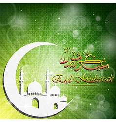 Elegant green color background for ramadan vector