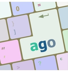 Ago message on enter key of keyboard keys vector