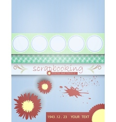 Scrapbooking card baby with text vector