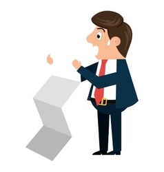 Businessman cartoon isolated icon design vector