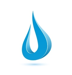 Abstract water drop vector