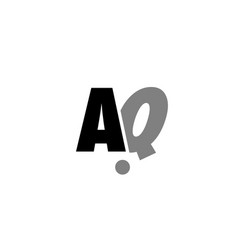 aq a q black white grey alphabet letter logo icon vector image vector image